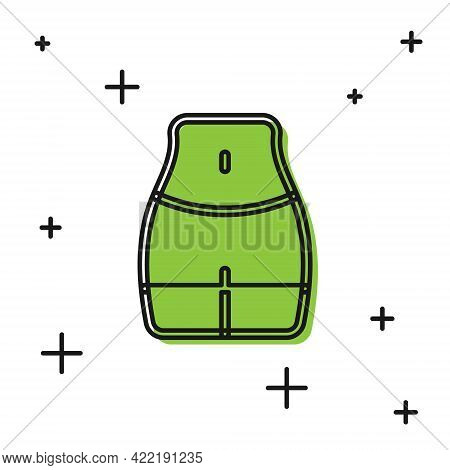 Black Women Waist Icon Isolated On White Background. Vector