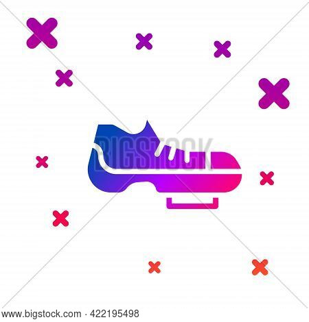 Color Triathlon Cycling Shoes Icon Isolated On White Background. Sport Shoes, Bicycle Shoes. Gradien