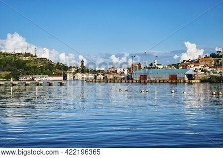 View Of Saint George Town, Capital Of Grenada Island, Caribbean Region Of Lesser Antilles, West Indi