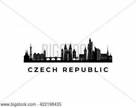Vector Czech Republic Skyline. Travel Czech Republic Famous Landmarks. Business And Tourism Concept