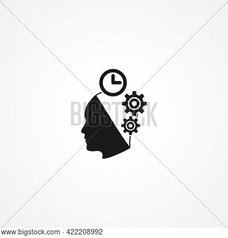 Artificial Intelligence Simple Isolated Vector Icon. Artificial Intelligence Simple Isolated Vector