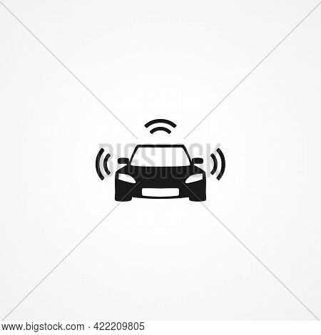 Autopilot In Car Simple Isolated Vector Icon. Autopilot In Car Simple Isolated Vector Icon. Autopilo