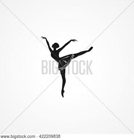 Ballerina Simple Isolated Vector Icon. Ballerina Simple Isolated Vector Icon. Ballerina Simple Isola