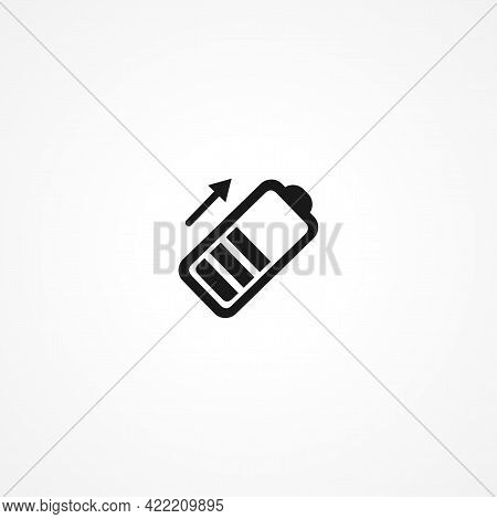 Battery Simple Isolated Vector Icon. Battery Simple Isolated Vector Icon. Battery Simple Isolated Ve