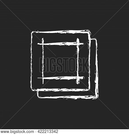 Napkin Chalk White Icon On Dark Background. Soft Wipes. Kitchen Towels. Clean Linen Sheets. Textile