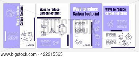 Carbon Footprint Reduction Ways Brochure Template. Renewable Energy. Flyer, Booklet, Leaflet Print,