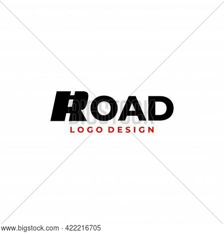 Wordmark Logo About The Road And The Letter R. Eps10, Vector.