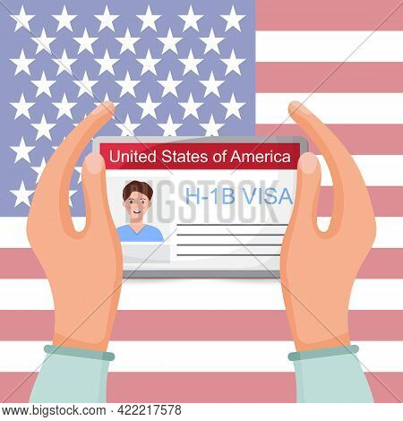 H1b Visa Usa Background, Temporary Work Visa For Foreign Skilled Workers In Specialty Occupation.