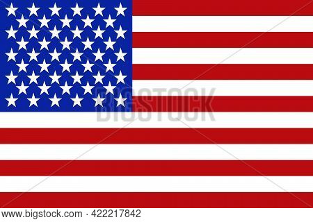 Usa Flag National American Flat Icon, United States Of America Country Illustration Vector