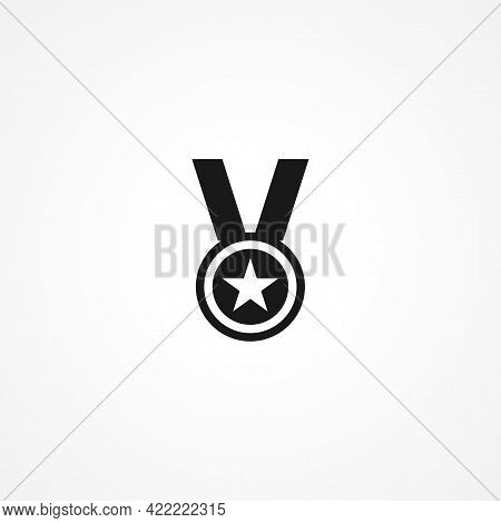 Medal Simple Isolated Vector Icon. Medal Simple Isolated Vector Icon. Medal Simple Isolated Vector I