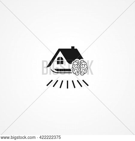 Smart Home Simple Isolated Vector Icon. Smart Home Simple Isolated Vector Icon. Smart Home Simple Is