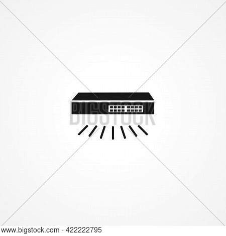 Smart Switch Simple Isolated Vector Icon. Smart Switch Simple Isolated Vector Icon. Smart Switch Sim