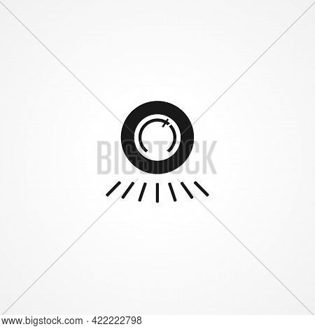 Thermostat Simple Isolated Vector Icon. Thermostat Simple Isolated Vector Icon. Thermostat Simple Is