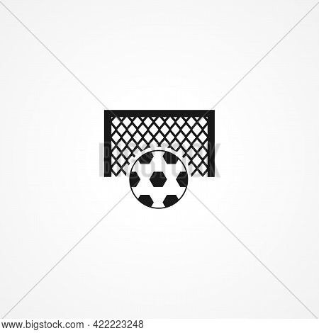 Soccer Goal Simple Isolated Vector Icon. Soccer Goal Simple Isolated Vector Icon. Soccer Goal Simple