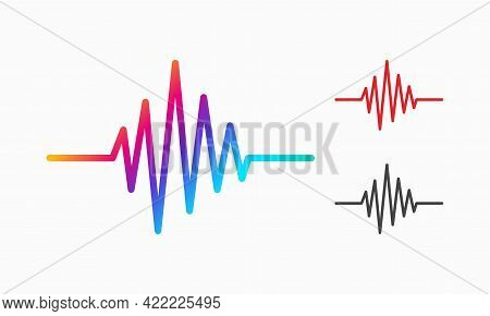 Heartbeat Line Illustration, Pulse Trace, Ecg Or Ekg Cardio Graph Symbol For Healthy And Medical Ana