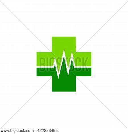 Illustration Vector Graphic Of Green Cross Medical Logo