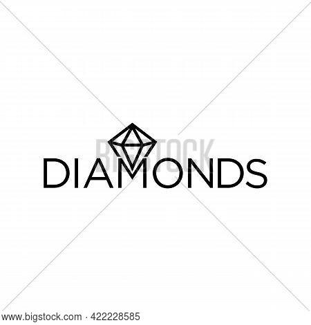 Illustration Vector Graphic Of Diamonds Text Logo