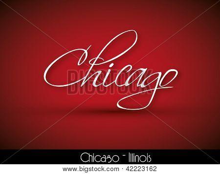 Chicago - handwritten background