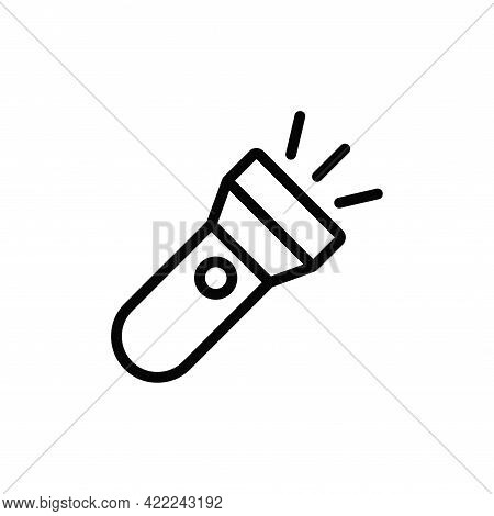 Flashlight Icon Isolated On White Background. Flashlight Icon In Trendy Design Style For Web Site An