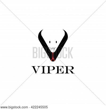 Viper Head Snake Illustration Logo Vector. Snake Head Illustration Vector