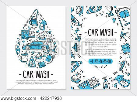 Flyer Or Poster For Printing For The Car Wash And Auto Detaling