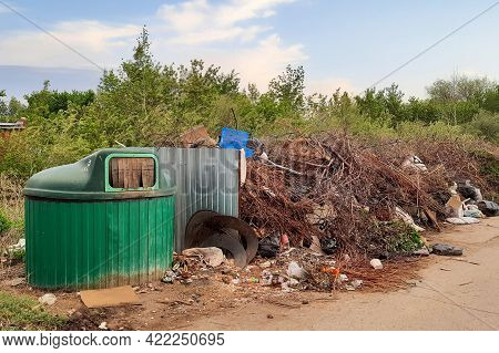 The Littered Place Of Collection Of Household Garbage, The Problem Of Waste Removal To The Landfill.