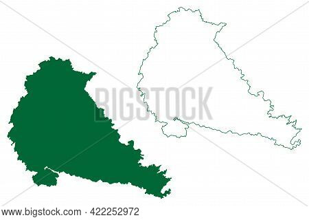 Pune District (maharashtra State, Pune Division, Republic Of India) Map Vector Illustration, Scribbl