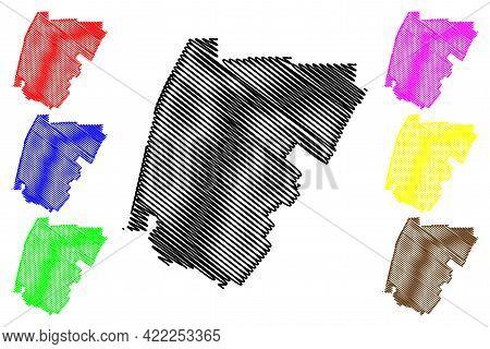 Costa Mesa City, California (united States Cities, United States Of America, Usa City) Map Vector Il