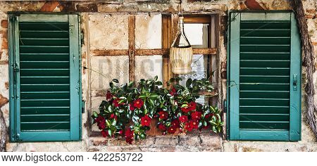 A Picturesque Italian Window In A Tuscan Village