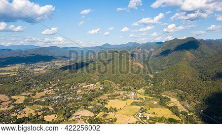 Aerial View Of Pai District Mae Hong Son Thailand. Pai Is A Small Town In Northern Thailand Mae Hong