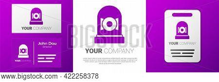 Logotype Ringing Alarm Bell Icon Isolated On White Background. Alarm Symbol, Service Bell, Handbell