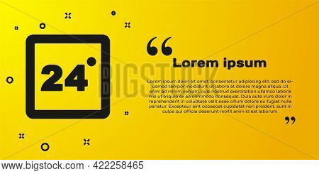 Black Thermostat Icon Isolated On Yellow Background. Temperature Control. Vector