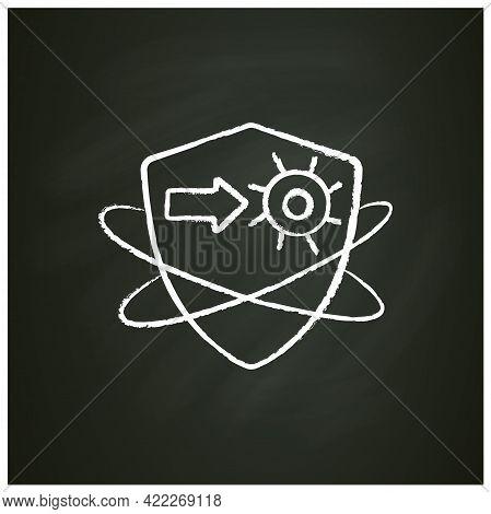 Virus Fight Chalk Icon. Antiviral Treatment. Immunity Strengthening Concept. Immunology. Body Defenc