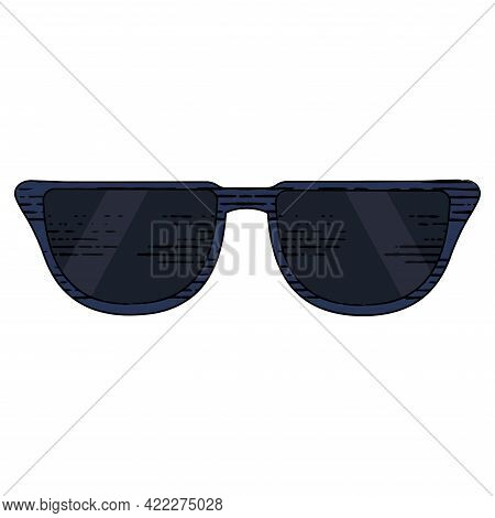 Isolated Sketch Of A Sunglasses Vector Illustration