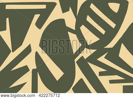 Contrasting Design With Abstract Pattern Of Different Shapes