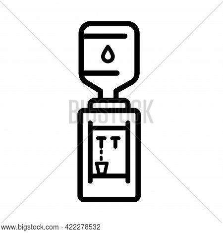 Water Cooler Icon, Outline Style Icon Dispenser. Clean Spring Or Purified Water. Logo For Water Deli