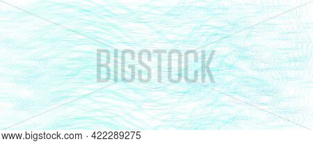 Light Blue Subtle Squiggle Lines. Wavy Tangled Curves. Abstract Vector Background With Textured Patt