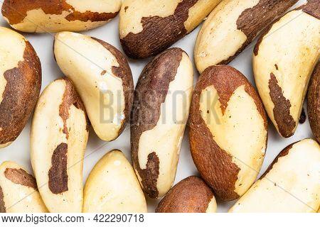 Food Background - Many Raw Brazil Nuts