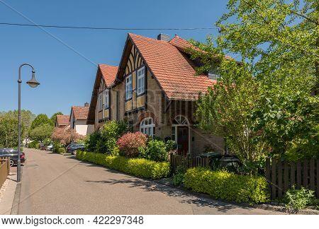 Houses Of The Former Workers Settlement Heimchen, Frankfurt-hoechst, Germany