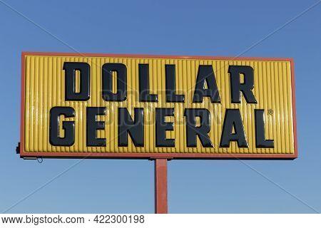 Galveston - Circa May 2021: Dollar General Retail Location. Dollar General Is A Small Box Discount R