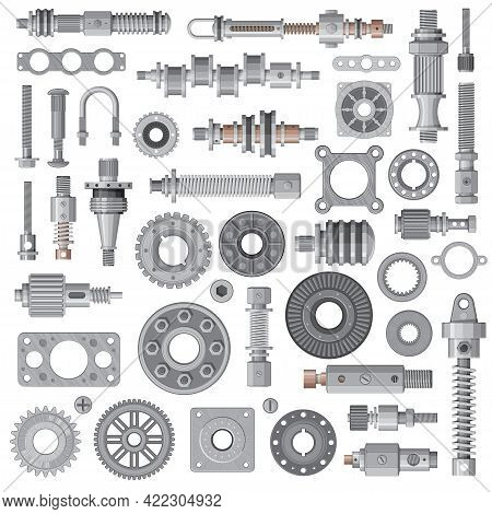 Car Engine, Machine Spare Parts, Mechanism Steel Bolts And Nuts, Bearing, Cogwheel And Spring Absorb