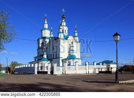 Trinity Church In Yeniseysk. Krasnoyarsk Region. Russia. Ancient Orthodox Architecture Yeniseisk Is