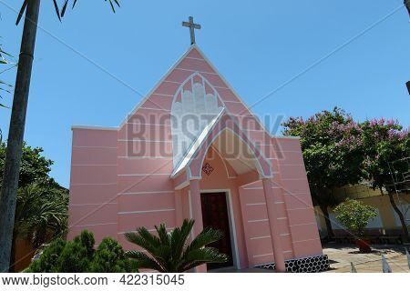 Hoi An, Vietnam, May 23, 2021: Hoi An Evangelical Church, Vietnam