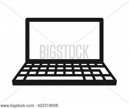 Laptop Icon. Portable Computer Symbol. Office Device Logo Sign. Vector Illustration Image. Isolated