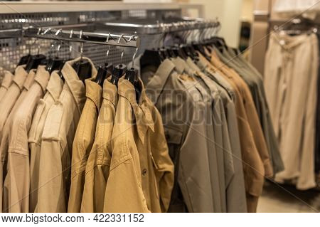 Womens Collection Of Outerwear Jackets And Shirts In Denim Casual Style In Natural Tones Of Beige, B