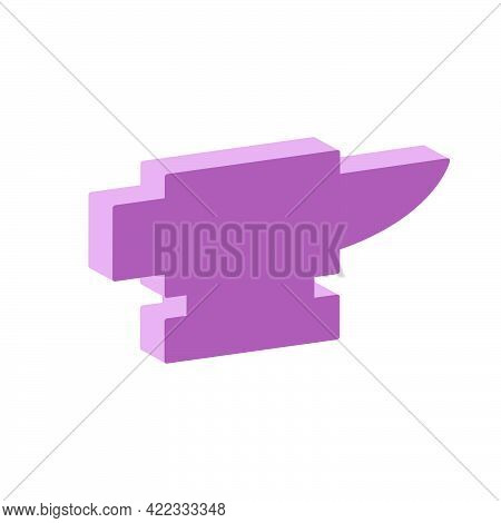 Iron Anvil Icon Isolated On White Background.isometric And 3d View.