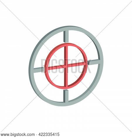 Target Icon Isolated On White Background.isometric And 3d View.