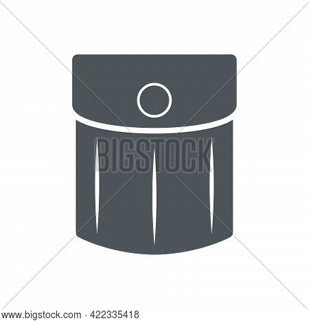 Pocket On Clothes Icon In Flat Style Isolated On White Background.vector Illustration.