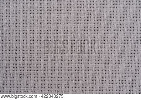 Close Up Light Grey Blank Napkin With Grooved Surface Texture Background Grey Abstract Cotton Towel