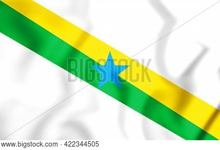 3d Flag Of Muana (para), Brazil. 3d Illustration.